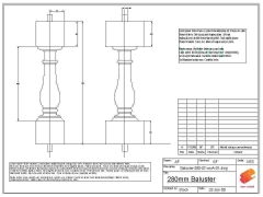 Baluster grp design CAD drawing